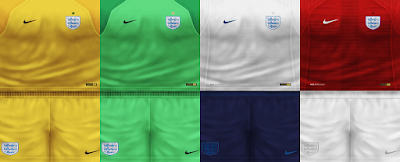 PES 6 Kits England National Team World Cup 2018 by VillaPilla
