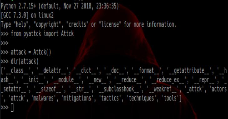 Pyattck : A Python Module To Interact With The Mitre ATT&CK Framework