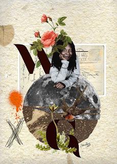 Colagem Whoopi Goldberg por Maria Rosa