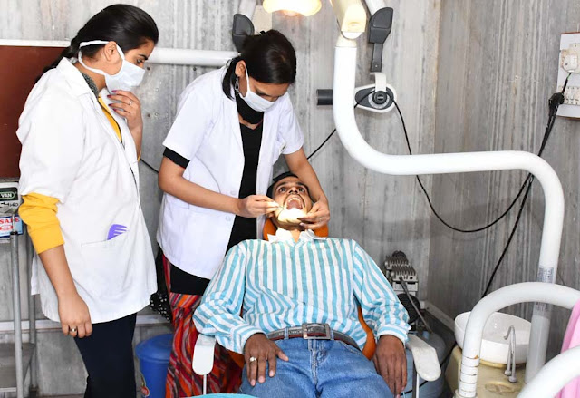 494 conducted medical examination in Faridabad, Sri Siddhada Ashram Temple