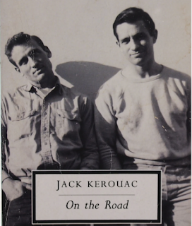 from the cover of On the Road with image of Jack Kerouac and Neal C
