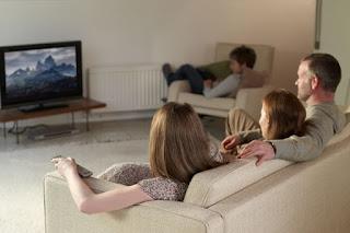 Prayerlessness family watching movie