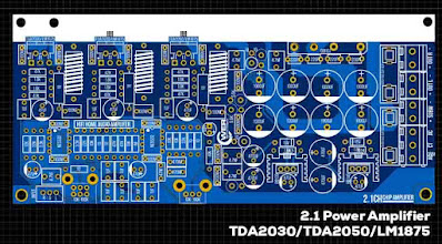 TDA2030 2.1 Power Amplifier Circuit