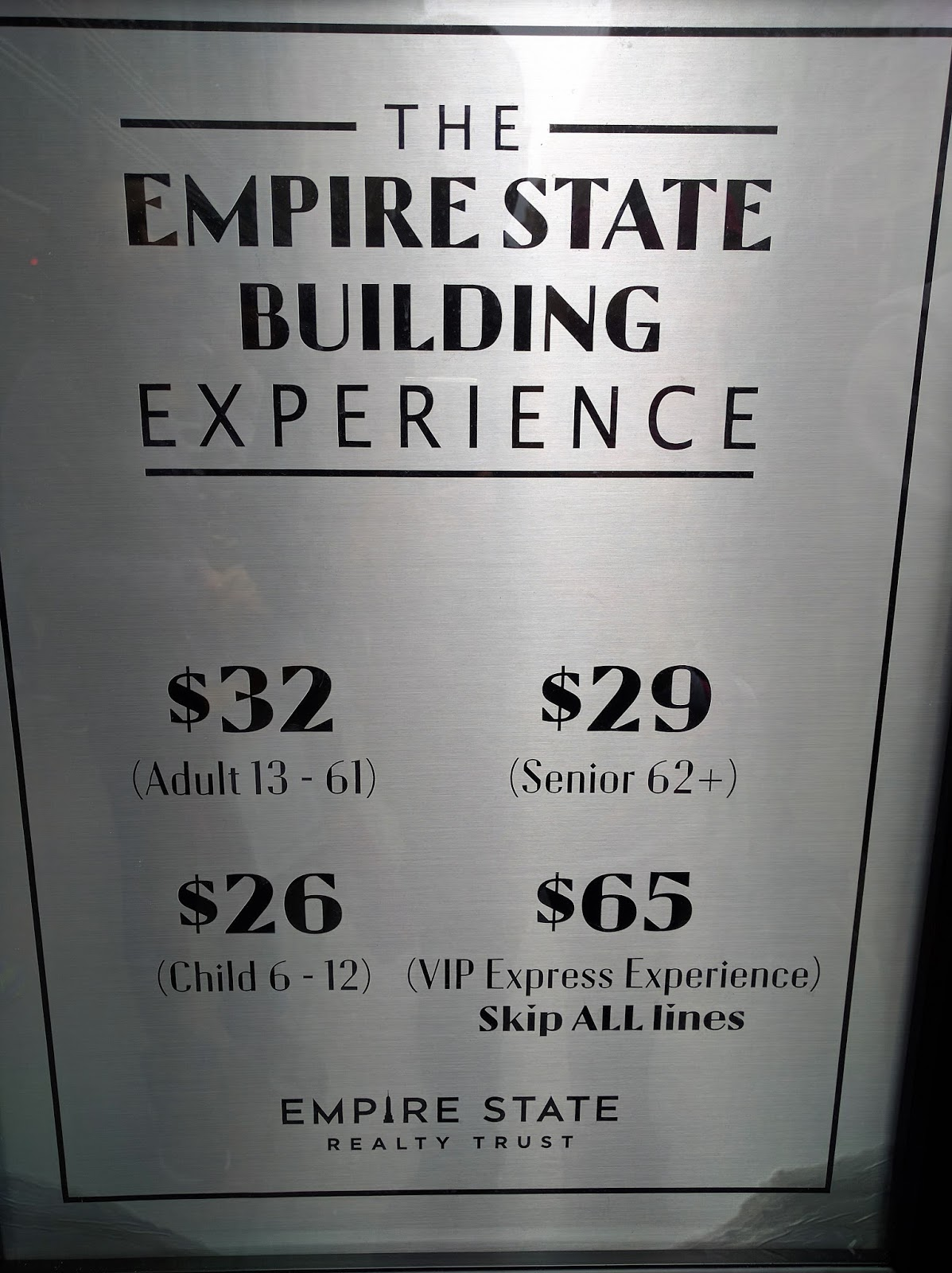 Price To Empire State Building