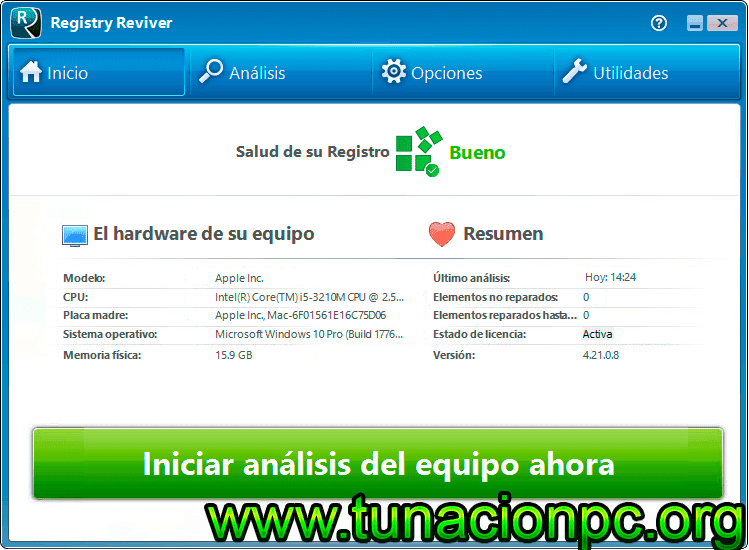 ReviverSoft Registry Reviver con portable