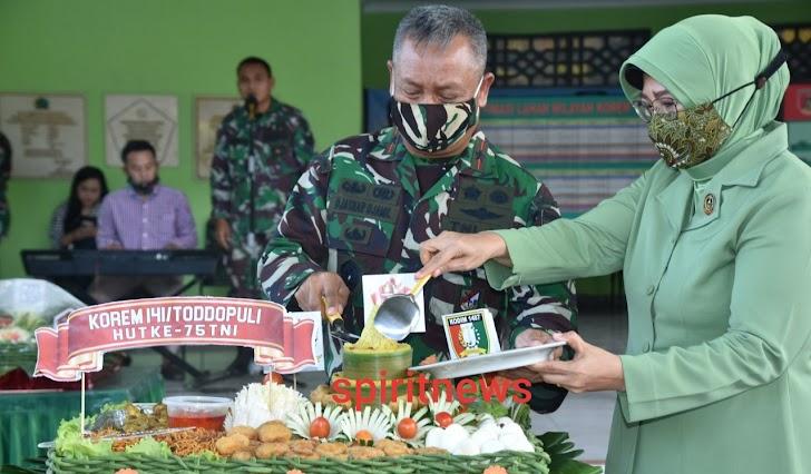 """Denrem 141/Tp, Upacara Hut TNI Ke 75 Tahun Dengan Tema """"Sinergi Untuk Negeri"""""""