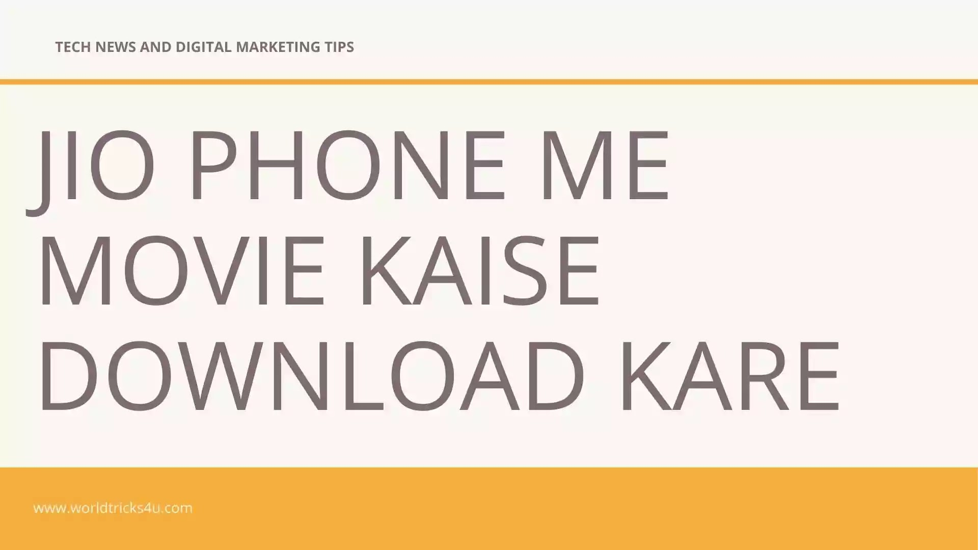 Jio Phone Me Movie Kaise Download Kare