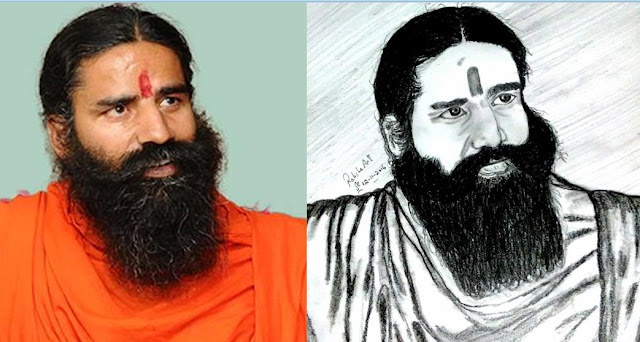 PENCIL DRAWING - BABA RAMDEV