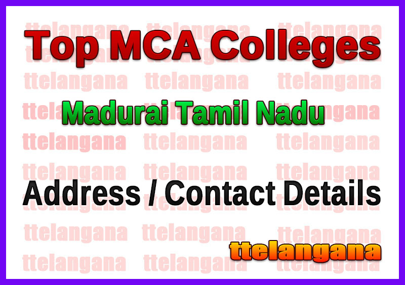 Top MCA Colleges in Madurai Tamil Nadu