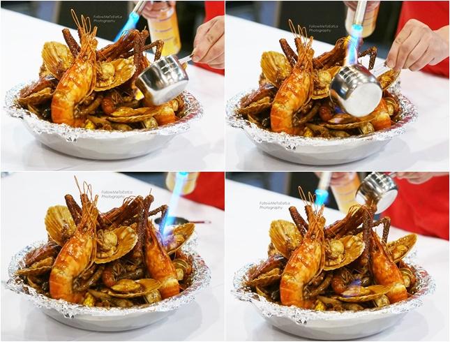 Flambe Seafood Dish