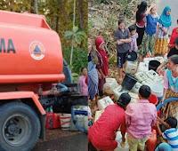 BPBD Salurkan Air Bersih di Desa Ndano Ndere-Soromandi