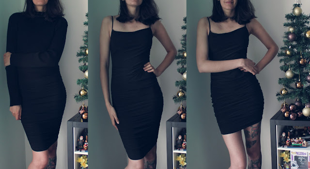 midi bodycon dress black