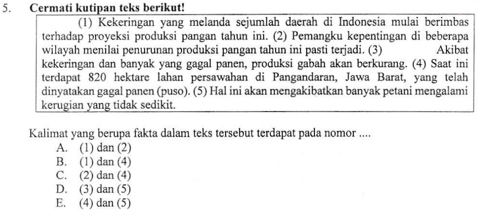 Kalimat Fakta Dan Opini Zuhri Indonesia