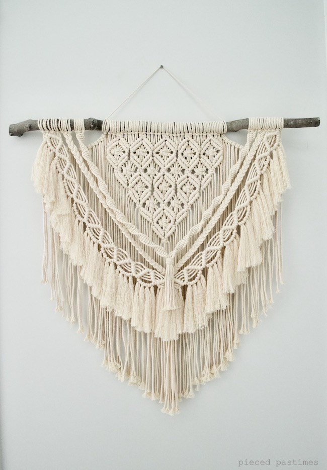 Macrame Wall Hanging at Pieced Pastimes