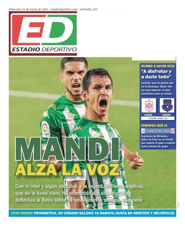 """Betis, Estadio Deportivo: """"Mandi alza la voz"""""""