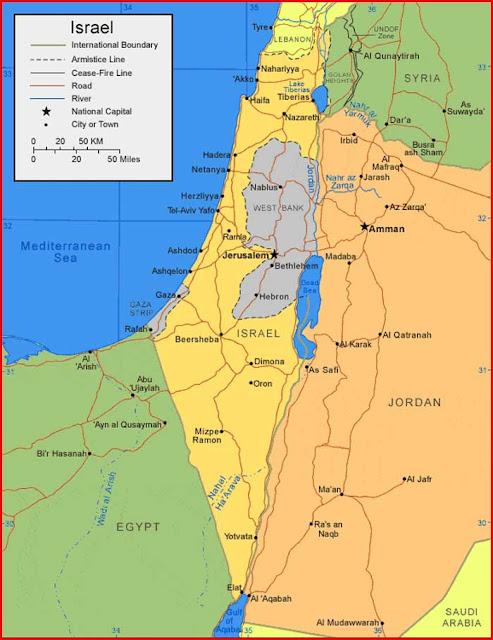 Gambar Peta Israel