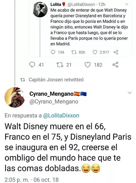 Walt Disney, Franco, Disneyland, Madrid, Barcelona