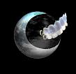Logotipo de Crónicas Dentales, logo, luna y dientes