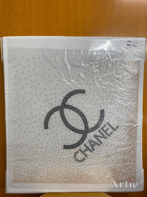 Hotfix stickers dmc rhinestone aplikasi tudung bawal fabrik pakaian logo branded designer