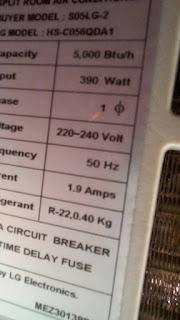 Mengetahui PK AC dari namplate outdoor