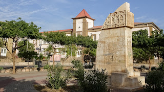 Praia has a plateau area with most statues