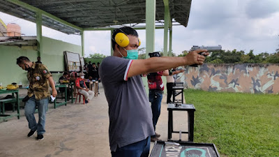 Hut Bhayangkara Ke-74,Polres Mura Gelar Lomba Menembak