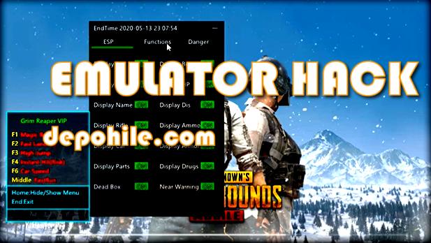 Pubg Mobile 0.18.0 Grim Reaper Menu Süper ESP Hile Emulator