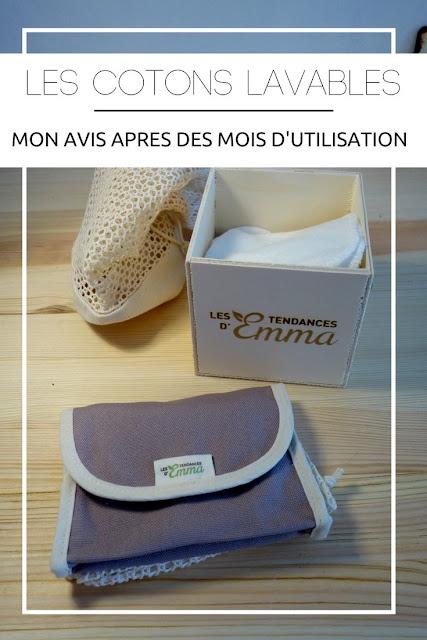 BEAUTE : Mon avis sur les Cotons Lavables d'Emma après plusieurs mois. / www.by-laura.fr