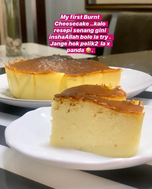Resepi Dan Cara Buat Burnt Cheesecake