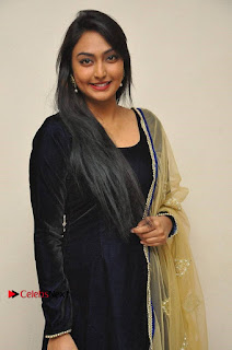 Actress Grace Myrtle Pos in Black Anarkali Dress at Beep Short Film Press Meet  0007.jpg