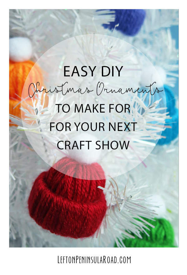 Easy Yarn Hat Christmas Ornaments to Hang on Tree