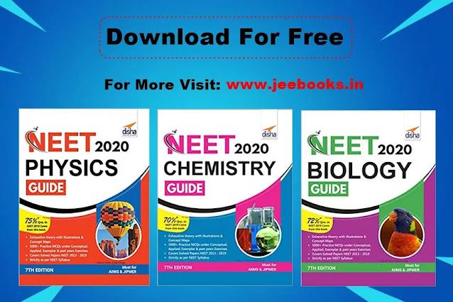 Download Disha NEET Guide of Physics, Chemistry, and Biology [Free PDF], 2020, 2021, 2022, NEET Books, AIIMS, JIPMER