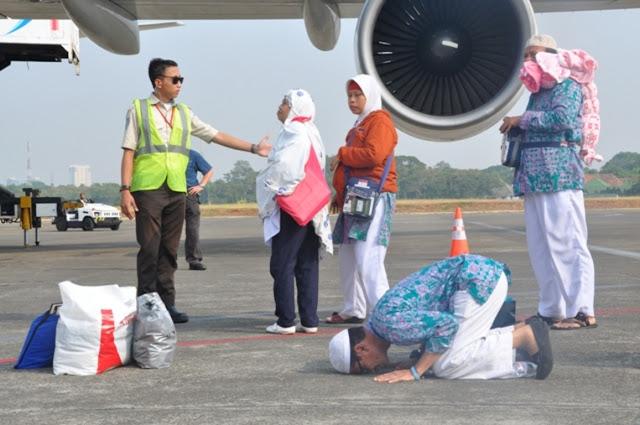 Berkurang 3 Orang, Kloter IV Jamaah Haji Tiba di Aceh