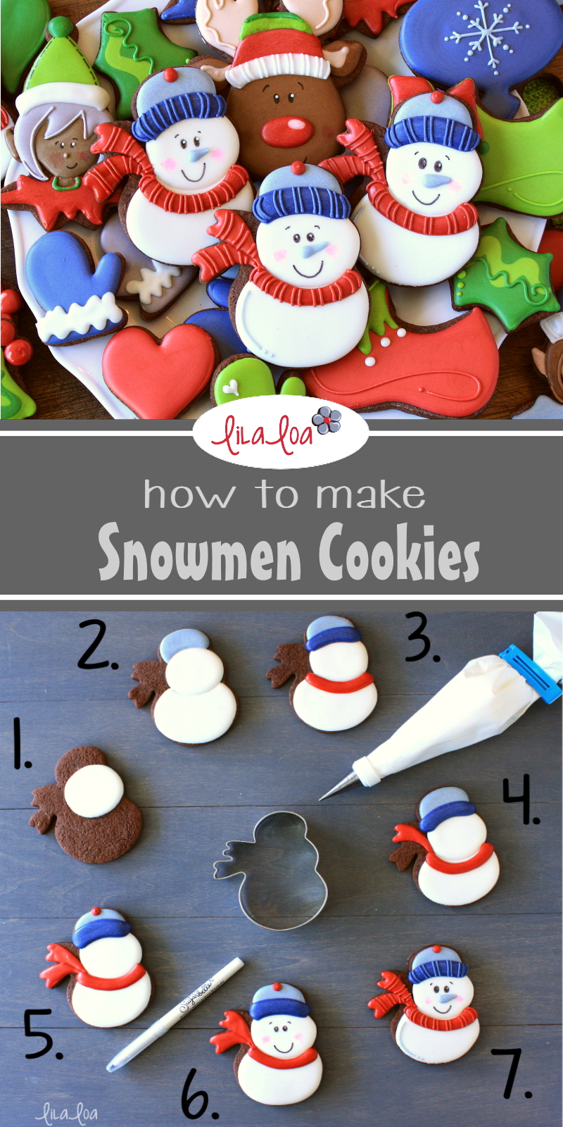 How to make decorated snowman sugar cookies a step by step tutorial