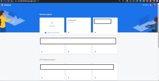 Projects on Firebase Console