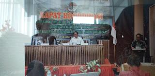 Kabid Pengelolan DAS Dan Hutan Lindung Provinsi Jambi Secara Resmi Membuka Rakor Progres Pelaksanaan Kegiatan RHL 2019 Dan Rencana Kegiatan 2020.