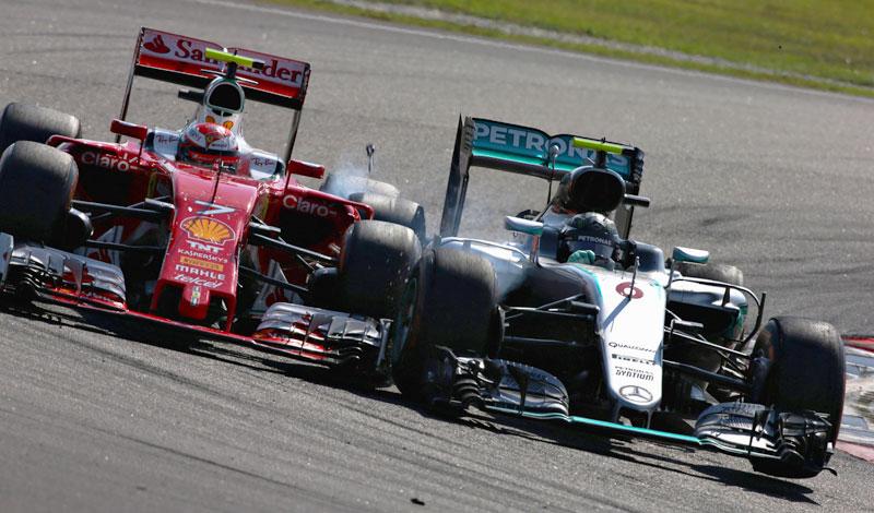 El incidente entre Nico Rosberg y Kimi Räikkönen en el GP de Malasia 2016