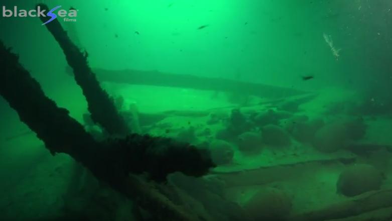 Imagen extraida del material de grabación del Black Sea MAP Maritime Archaeology Projec