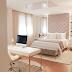 Quarto com home office com estilo clássico contemporâneo e cores neutras + dourado!