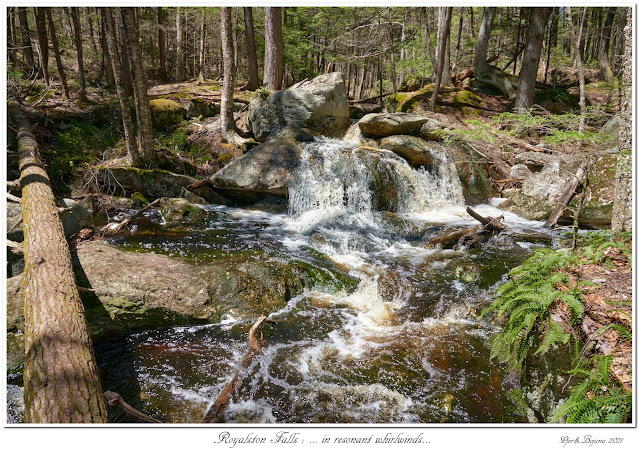 Royalston Falls: ... in resonant whirlwinds...