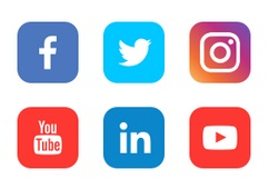 Standard set of social sharing icons for popular social web sites