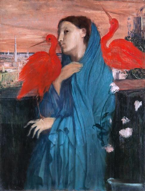 Эдгар Дега - Молодая женщина с Ибисом (1860-1862)