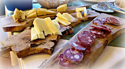Easter breakfast of corallina salami