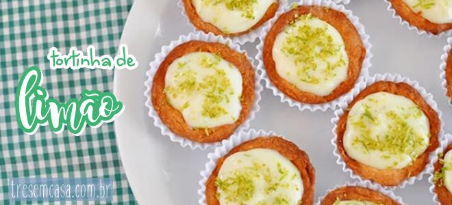 receita tortinha limão