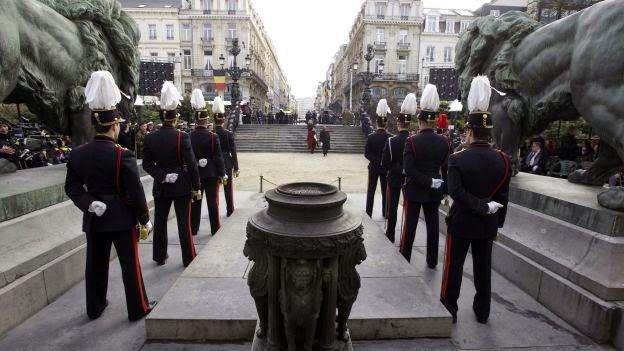 roi philippe, koning philip, nva ,ministresCommémorations de la Première Guerre mondiale sur la tombe du Soldat inconnu, à Bruxelles  Photo: NICOLAS MAETERLINCK
