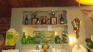 Byers' Choice Dolls behind the bar