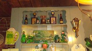 Byers' Choice Dolls behind the bar