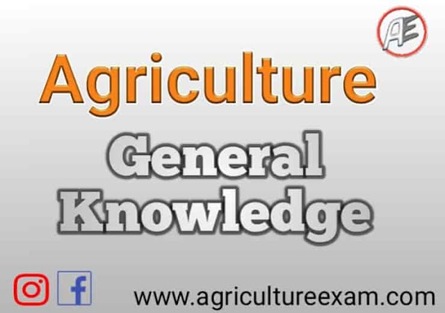 Agriculture subjects  important table