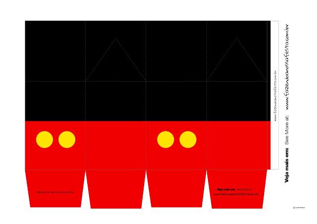 Cajas de Mickey para Imprimir Gratis.
