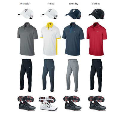 Tiger Woods Golf Clothing